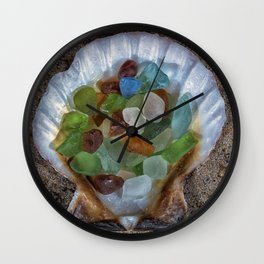 Beach Finds Wall Clock