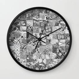 Doodling Together #2 Wall Clock