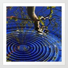 A drop in the ocean Art Print