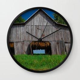Old Tobacco Barn Wall Clock