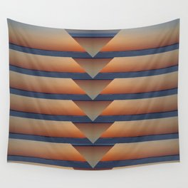 Notched Sunset Wall Tapestry