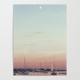 Sailing on the Boston Harbor Poster