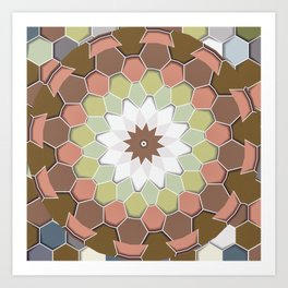 Hexagons Art Print