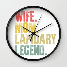 Best Mother Women Funny Gift T Shirt Wife Mom Lapidary Legend Wall Clock