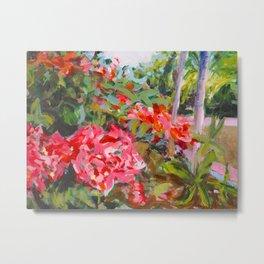 Flowers at Uxmal Painting Metal Print