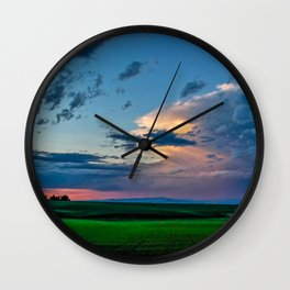 Montana Sunset Wall Clock