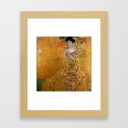 The Woman In Gold Bloch-Bauer I by Gustav Klimt Framed Art Print