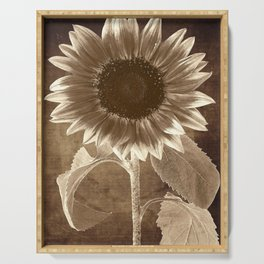 Vintage Flowers Digital Collage 3 Serving Tray