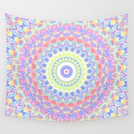 bright colorful mandala Wall Tapestry