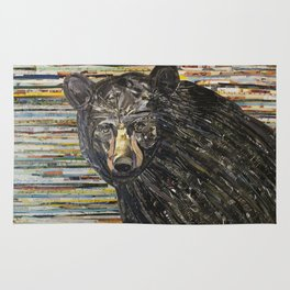 Colorful Black Bear Collage by C.E. White Rug