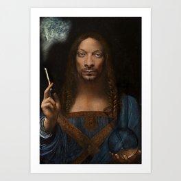 Sativator Mundi Art Print
