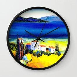 the lakeside village Wall Clock