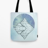 frozen Tote Bags featuring Frozen by Holly Nekonam