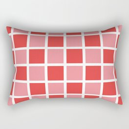 Modern Checkers (red tiles) Rectangular Pillow