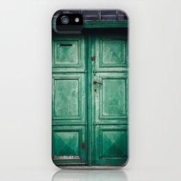 Green old door iPhone Case