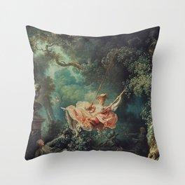 THE SWING - JEAN-HONORE FRAGONARD Throw Pillow