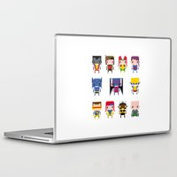 x men Laptop & iPad Skins featuring Pixel X-Men by PixelPower