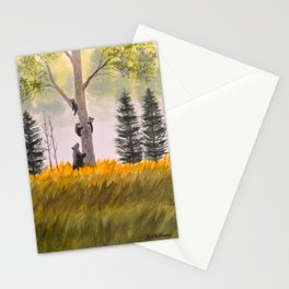 Bears In The Blue Ridge Mountains Stationery Cards