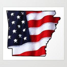 Patriotic Arkansas Art Print