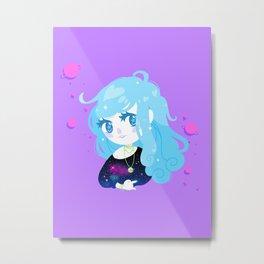 Space Cutie (blue) Metal Print