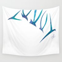 flight Wall Tapestries featuring Flight by Dawn Patel Art