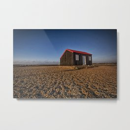 The Red Hut Metal Print