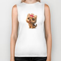 terrier Biker Tanks featuring Yorkshire Terrier by Antracit