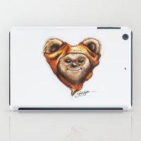 ewok iPad Cases featuring Ewok Star Wars Heart Art by Sam Skyler