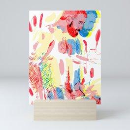 Hunk in Colors Mini Art Print