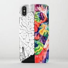 Right Left Brain iPhone Case