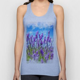 Lavender fields Unisex Tank Top