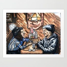 the wednesday booth Art Print