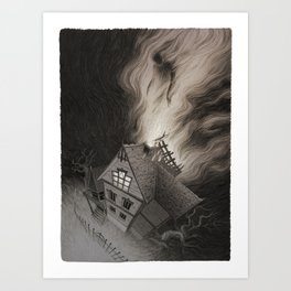 Moving out of the Crooked House Art Print