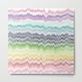 Rainbow Sound Waves Metal Print