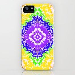 Psychedelic Rainbow Burst iPhone Case