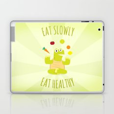 Eat slowly, eat healthy. A PSA for stressed creatives. Laptop & iPad Skin