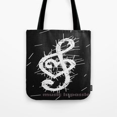 music is passion Tote Bag
