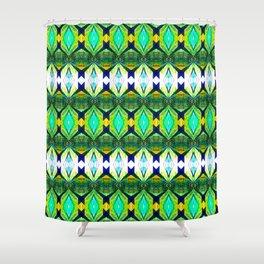 Folk Kaleidoskope Shower Curtain