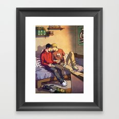 William and Theodore Framed Art Print