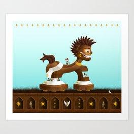 Trojanix, the lion-horse. Art Print