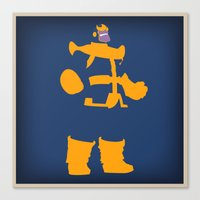thanos Canvas Prints featuring The Overmaster (Thanos) by Timmy D. Matias