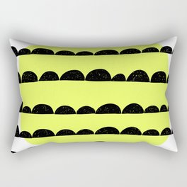 half moon pattern with yellow circle Rectangular Pillow