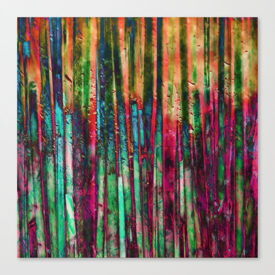 Colored Bamboo Canvas Print
