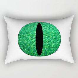 Cat's Eye-Green Rectangular Pillow