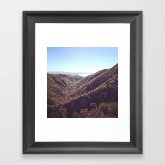 Malibu Haze Framed Art Print