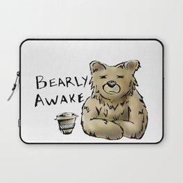 Bearly Awake Funny Pun Laptop Sleeve
