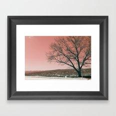 Sunset Park photo landscape Framed Art Print