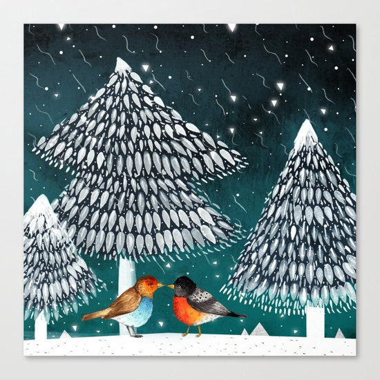 Bird Love Canvas Print