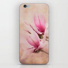 Pink Magnolia III - Flower Art iPhone & iPod Skin