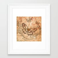 butterflies Framed Art Prints featuring Butterflies by nicky2342